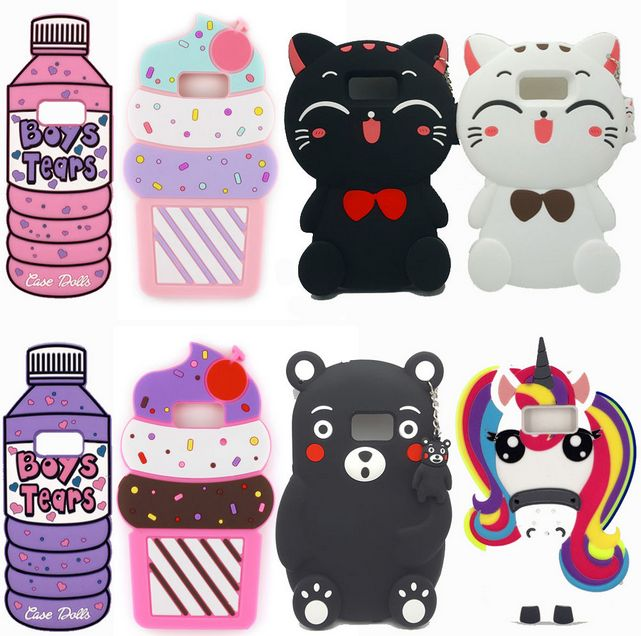 10pcs wholesales Samsung galaxy s8 plus cases 3D Cute animal Phone Cases For All Samsung phone 3D Cover