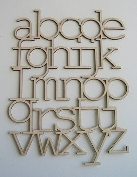 Wood Alphabet by bookhouathome - modern - artwork - by Etsy