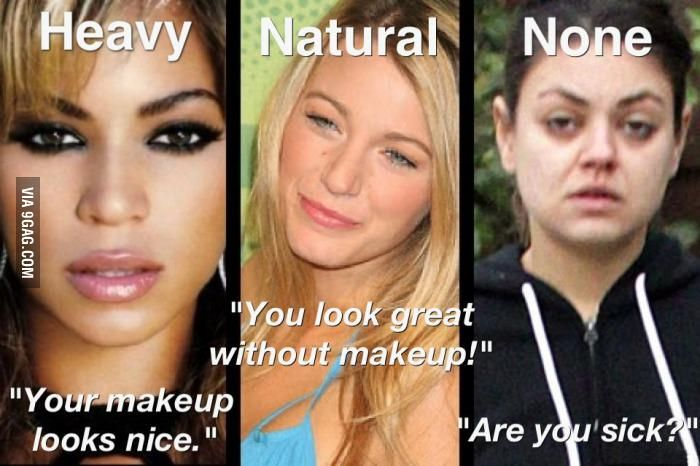 What people say when I'm wearing different types of makeup