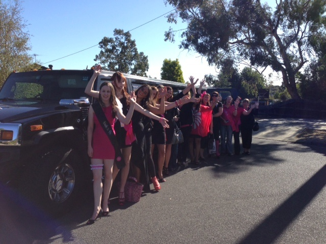 This stylish group of people enjoyed their hummer limousine experience