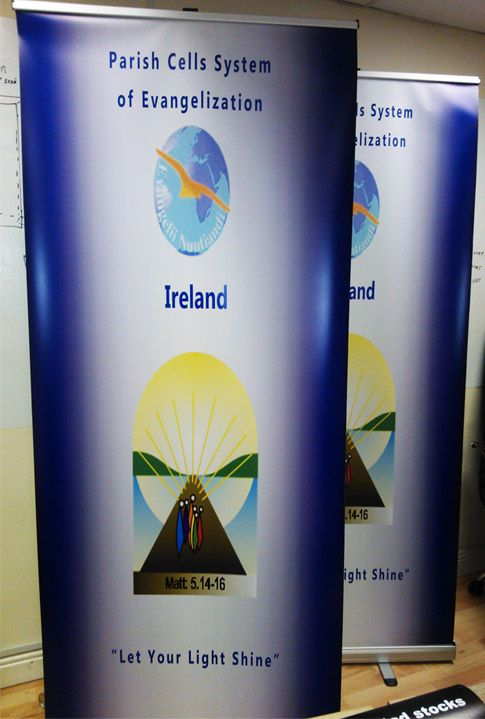 Full-colour pull up banners