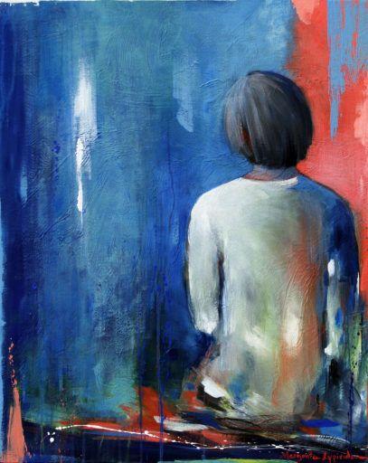 DÉSIR - Margarita Lypiridou - 30'' x 24''  - acrylique sur toile