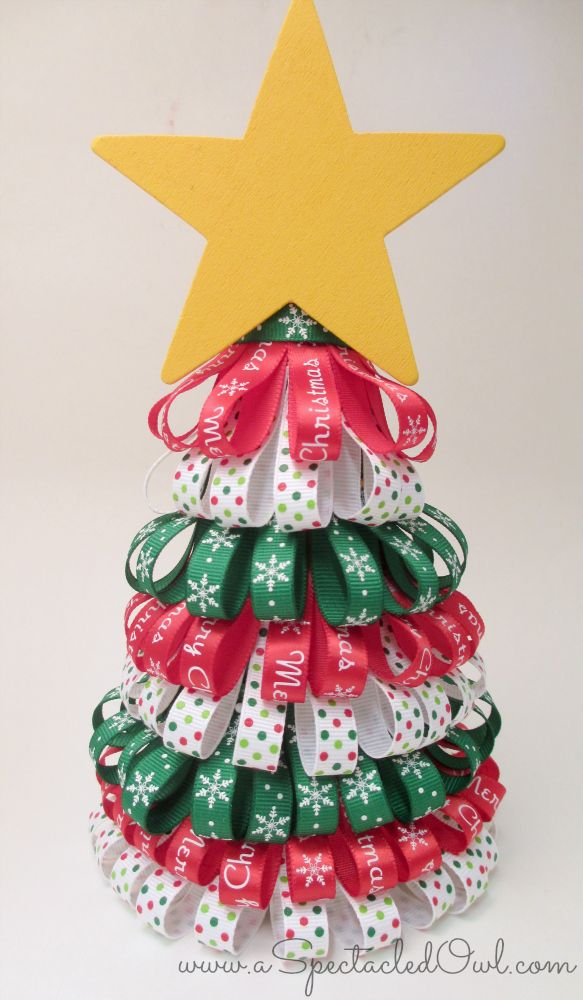 Ribbon Christmas Tree Tutorial