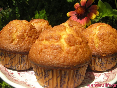 Muffins βρώμης με μέλι και κανέλα  www.enter2life.gr