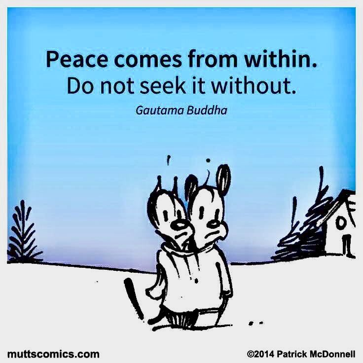 Peace Comes From Within...  Do Not Seek It Without...  Gautama Buddha
