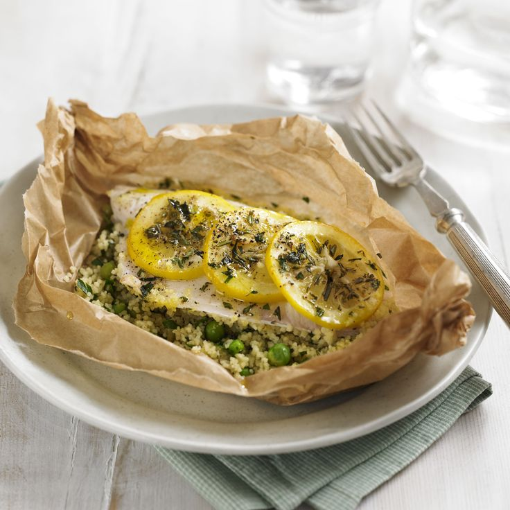 Sea bass parcel with lemon couscous  - Low-Carb Recipes, Healthy Recipes, Low-Carb Food - Woman And Home