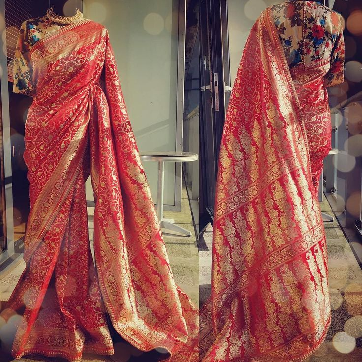 Are you bold enough to go vintage? These Benarsi SAREES from my latest collection are something that is to be passed from one generations to another! I have not tried to modernise them at all they are very stylish as they are. You need to be rather bold and confident to be entering a wedding looking like you are an heroine from a film of 1950s. It does not get more trendier than this! For purchases email me at designerayushkejriwal@hotmail.com or what's app me on 00447840384707 We ship…