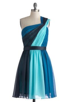 Symphonic Streams Dress, #ModCloth