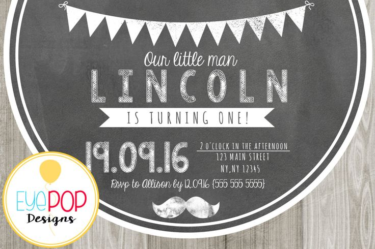 LITTLE MAN CHALKBOARD Invitation * First Birthday Party * Mustache *Party Decor * Digital Printable by EyePopDesigns on Etsy https://www.etsy.com/listing/458140038/little-man-chalkboard-invitation-first