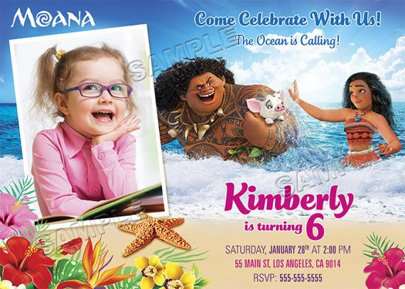 Moana Invitation Moana birthday Moana Birthday Invitation