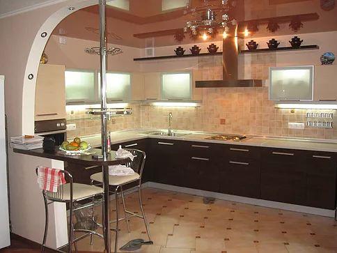 Кухни из шпона, кухни на заказ, Изготовление кухонь