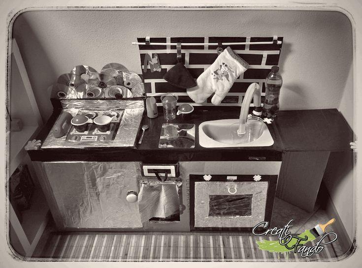 come costruire una cucina di cartone fai da te per bambini utilizzando materiali di recupero