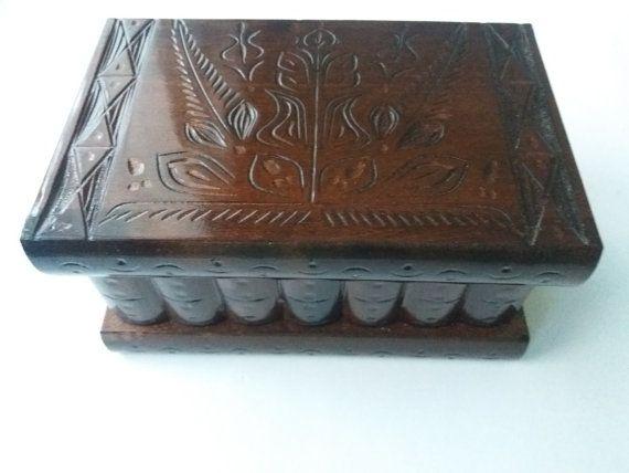 Nuovo grande marrone cioccolato intagliato gioielli scatola scatola magica mistero puzzle in legno scatola scatola segreta difficile gingillo handcarved scatola di legno cassetto nascosto