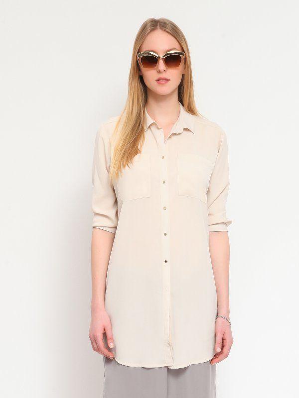Tunika damska beżowa  - tunika - TOP SECRET. SKL1801 Świetna jakość, rewelacyjna cena, modny krój. Idealnie podkreśli atuty Twojej figury. Obejrzyj też inne tuniki tej marki.