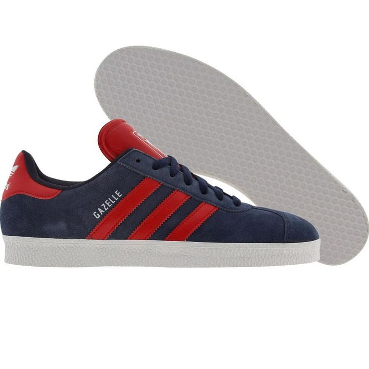 Adidas Gazelle II (new navy / light scarlet / runninwhite) G56658 - $64.99