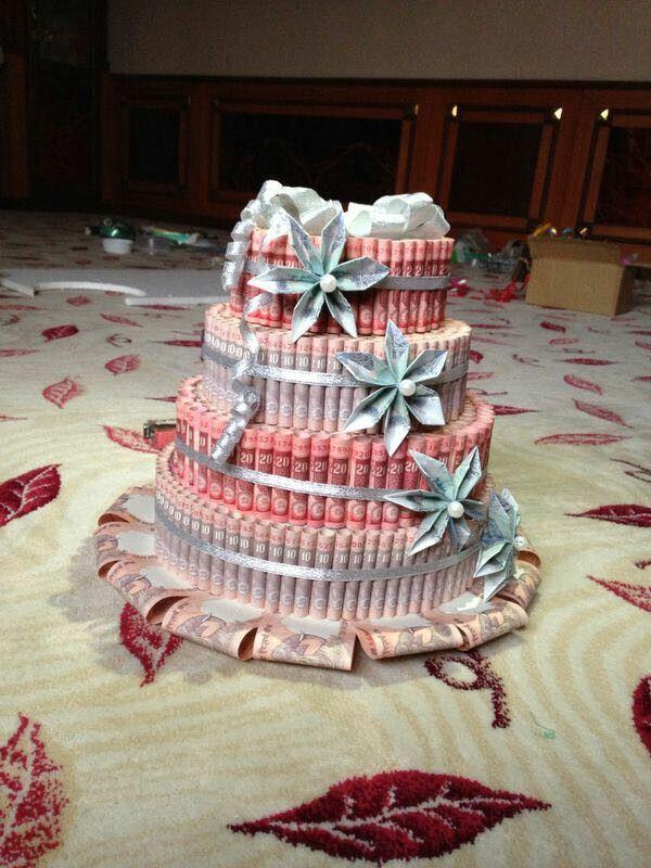 money origami- cake