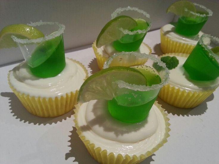 Alcoholic mojito cupcakes