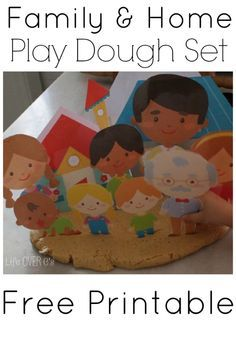Free family home play dough printables