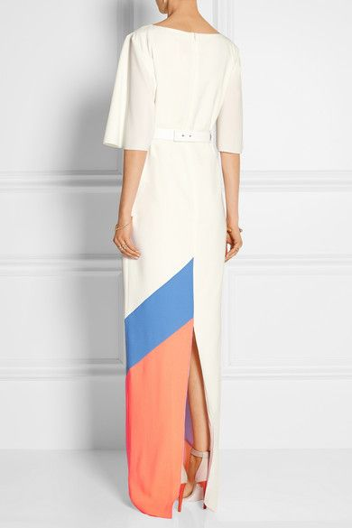 Roksanda | Belted color-block crepe gown | NET-A-PORTER.COM
