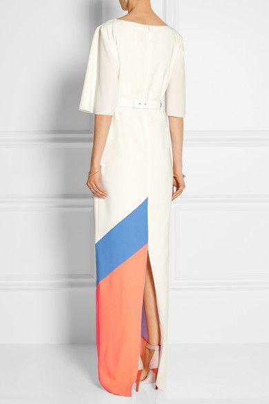 Roksanda   Belted color-block crepe gown   NET-A-PORTER.COM