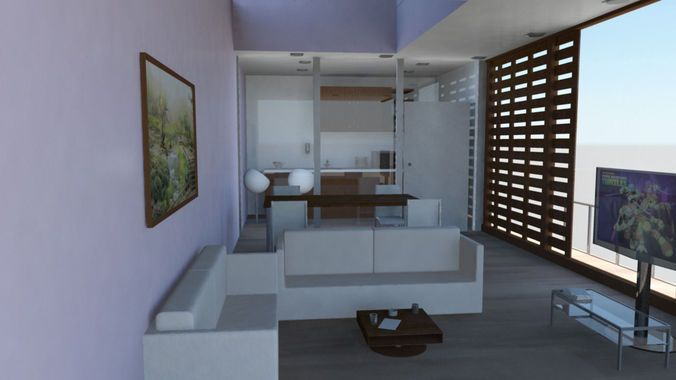 Interior room free 3d model ready for cg projects for Architect studio 3d online room design