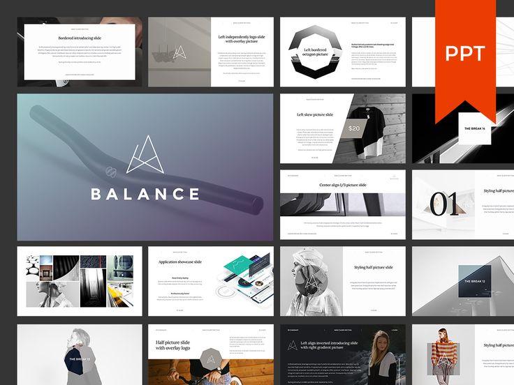 BALANCE PPT Presentation + BONUS by GoaShape on Creative Market