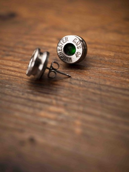 Bullet Earrings Green for Bourbon and Boots