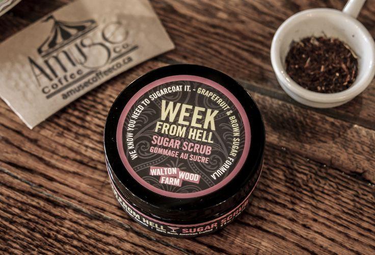$22. Having the week from hell? We know you need to sugar coat it. Week From Hell Sugar Scrub. #WomenSmellPretty #WaltonWoodFarm #UniqueGifts #StudentProblems #SugarScrub