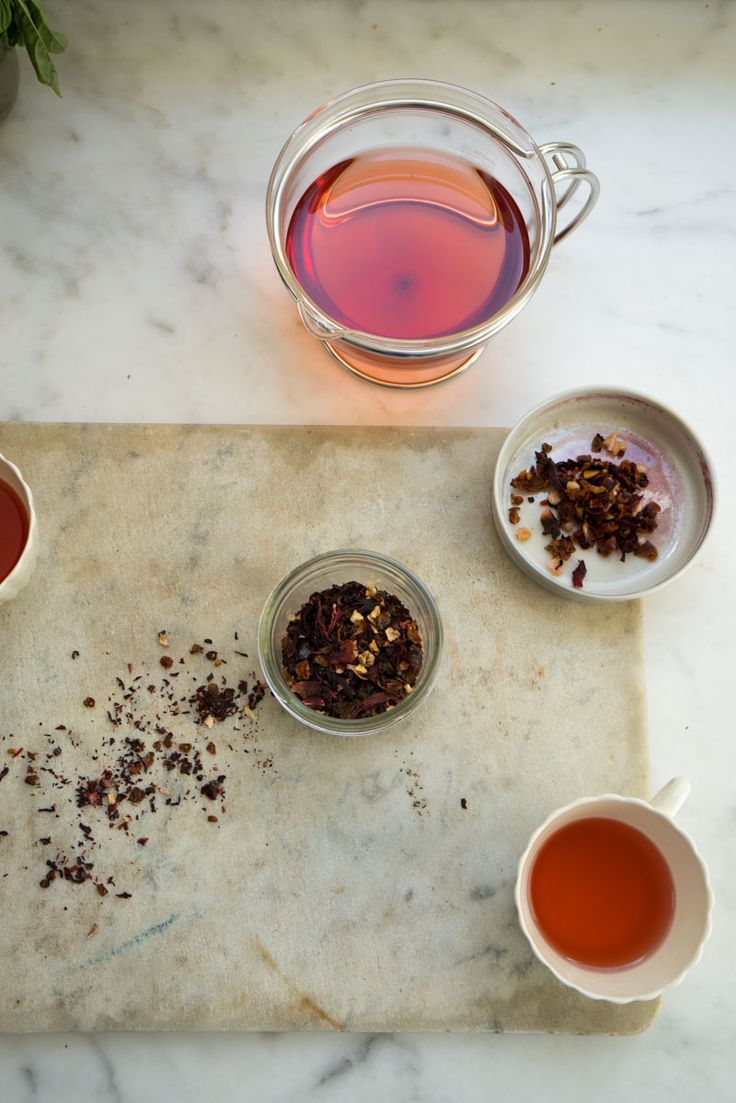 Homemade Vitamin C Tea blend - hibiscus, rose hips, and saffron.
