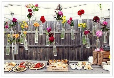 .: Wedding Ideas, Decoration, Weddings, Hanging Flower, Backyard, Bottle, Weddingideas, Party Ideas