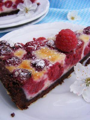 szeretetrehangoltan: Mascarpone-málna pite