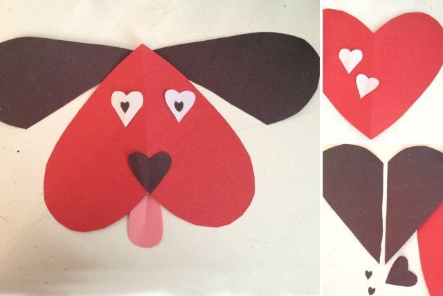 Bricoler des animaux avec des c urs bricolage coeur d - Pinterest st valentin bricolage ...
