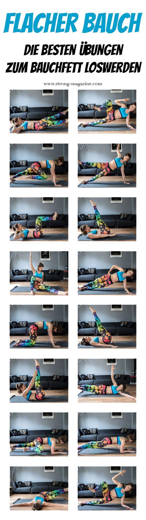 Flacher Bauch - die besten Übungen zum Bauchfett verlieren für Zuhause.