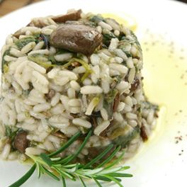 Chicken & Mushroom risotto - 8mins cooking in the PC!! Instead of Mushroom use Sundried Tomatoes, Olives, Artichokes, Roasted Capsicum Instead of Chicken use Pork, Bacon or Lamb.