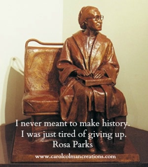 """Rosa Parks would have celebrated her 100th birthday on February 4, 1913. Her defiant act of courage advanced the civil right movement. It is ironic that after the end of the 381-day bus boycott spurred by her arrest in Montgomery, Alabama, Ms. Parks was not able to find employment there. So she and her husband moved to Detroit, and Ms. Parks worked for Congressman John Conyers. She is someone who, as Maya Angelous says, """"had greatness thrust upon her."""" Happy #blackhistorymonth! Celebrate…"""