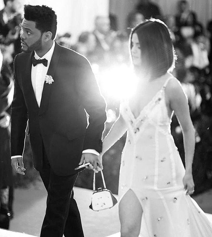 Selena Gomez and the Weekend are Bae Goals! Looking so stunning at the Met Gala 2017! (Via @selenagomez)