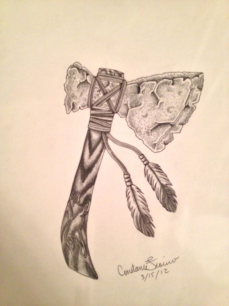 Native American Tomahawk Tattoo images