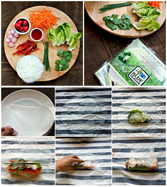 Vietnamese veggie rolls. Mise en place and tutorial