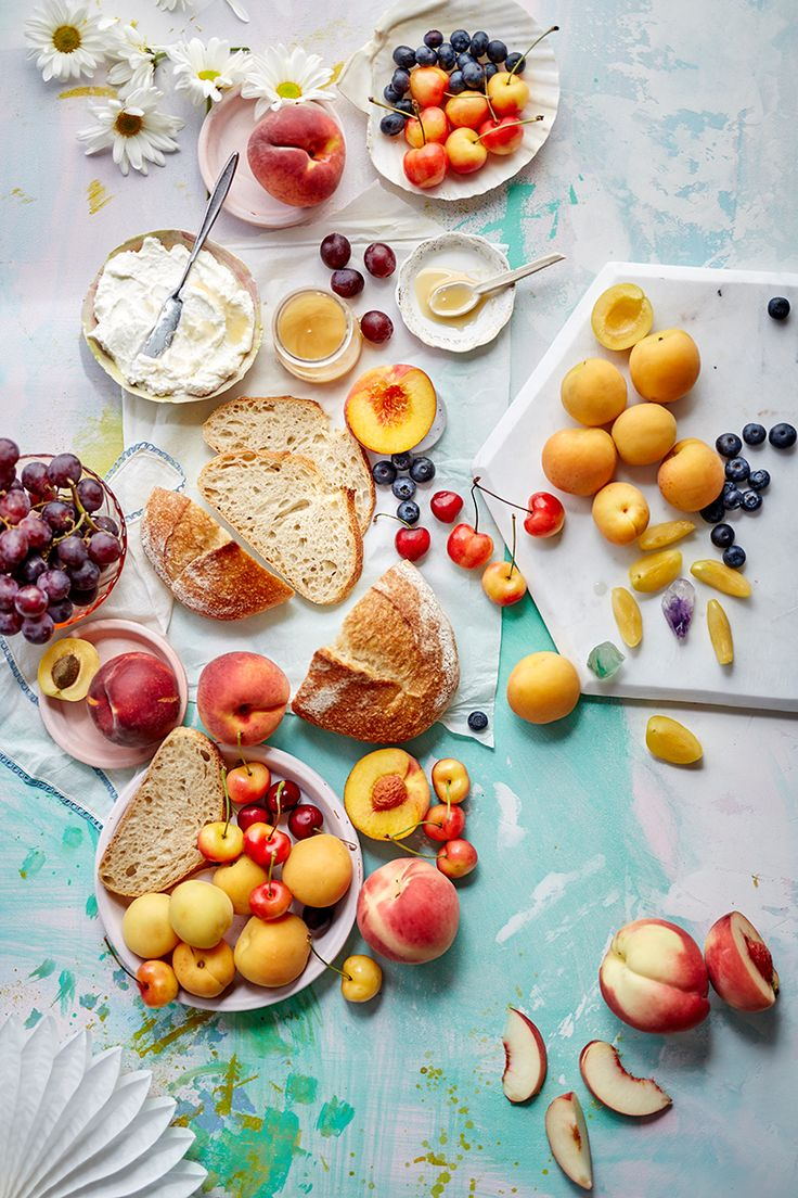 stone fruit toasts - leela cyd