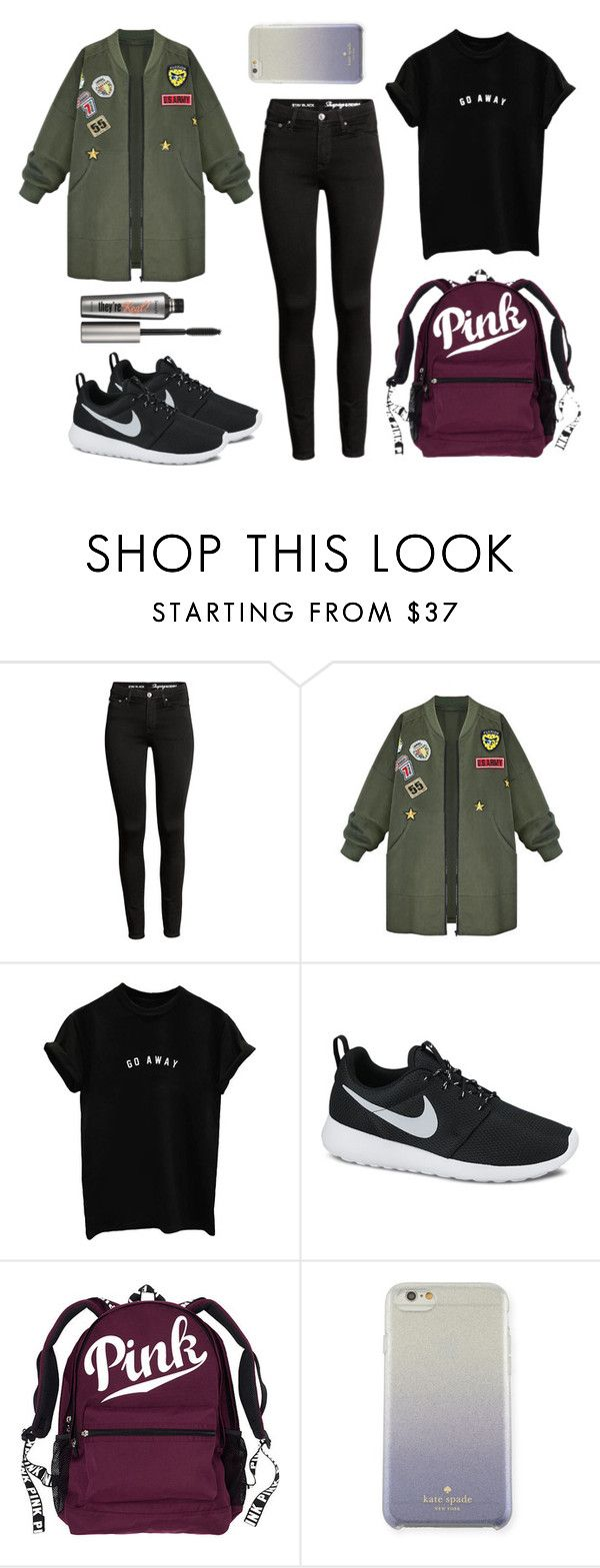 """""""Benefit"""" by gz-d ❤ liked on Polyvore featuring WithChic, NIKE, Kate Spade and Benefit"""