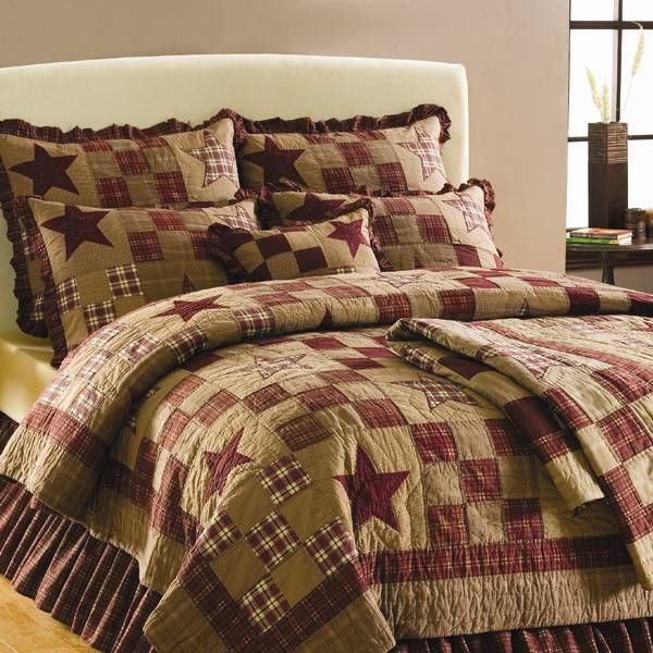 Country Primitive Farmhouse Rustic Quilts Curtains Rugs: 34 Best CountRy & PriMitVe BeddinG Images On Pinterest