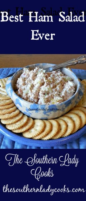 I used to cook a ham and half of it would go to waste. Then I started making ham salad. I love this recipe. It is great on crackers or bread. A great way to use up leftover ham. This is good to ...