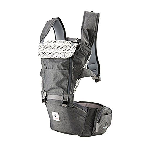 f91733ea8e0 Pognae No 5 Outdoor Organic Baby Hipseat Front Backpack Carrier (Gray)  Review