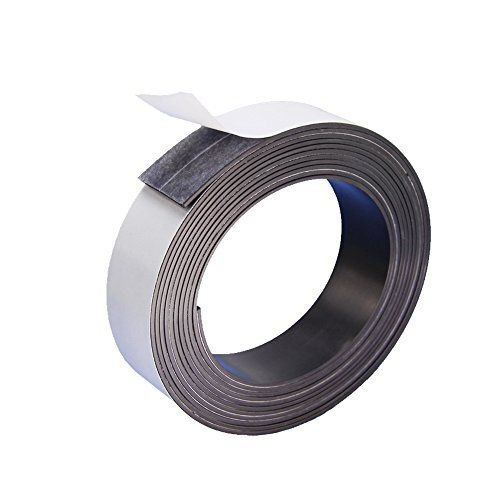 DGQ Flexible Magnetic Tape Strong Adhesive Magnet Strip 3/4-Inch by 10-Feet Perfect for Fridge Organisation, Crafts & DIY Projects, White Board, Hanging & Organizing Light Objects  DGQ Flexible Magnetic Tape in 3/4 inch width by 10 feet in roll.Superior adhesive roll with strong magnets that objects weighing up to 50 grams can be held easily by a couple of squares in 2*2cm.  Adhesive on one side, magnetic on the other. Just peel and stick! Magnet designed to hold on one side only direc...