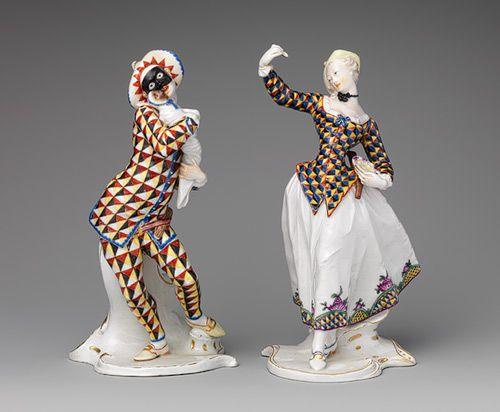 Harlequina and Harlequin [German; Nymphenburg] (1974.356.524,.525) | Heilbrunn Timeline of Art History | The Metropolitan Museum of Art