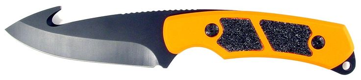 RUKO 3-1/4-Inch Blade Gut Hook Skinning Knife with Orange Blaze Handle and Nylon Sheath. Razor Sharp 440A Stainless Steel 3-1/4-Inch Gut Hook Skinning Blade, Rust Resistant Non-Glare Oxide Finish, Full Tang Design. Blaze Orange Non-Slip Rubberized Aluminum Handle Scale with Grip Tape Insert for a sure Grip. Supplied with formed EVA 1000D Nylon Sheath with Button Snap Closure. Blade: 3-1/4-Inch, Overall Length: 4-3/4-Inch, Weight: 6.28 oz. Lifetime Warranty.