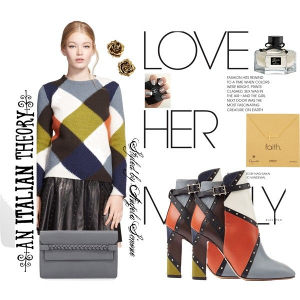 #styledbyangelasimone #armanibootstodiefor by styled-by-angela-simone on Polyvore featuring Valentino, Tiffany & Co., Dogeared, Gucci and An Italian Theory