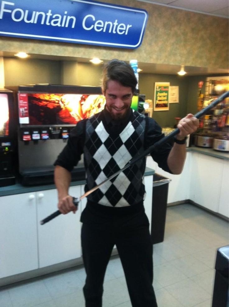 Seth Rollins...going ninja at the quickie mart!