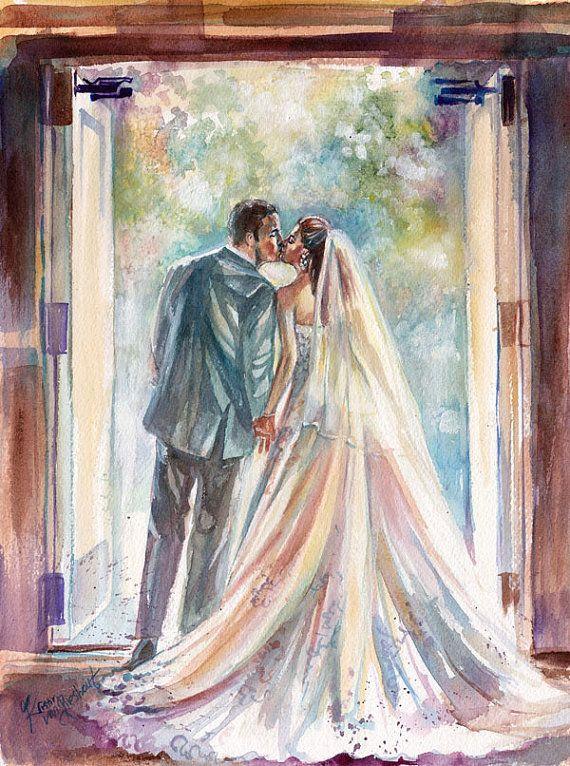 шубой жених и невеста картинки акварелью ткань используется