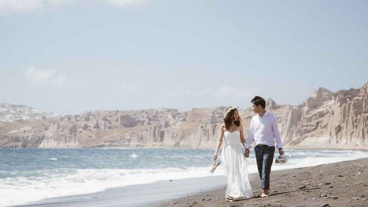 Sunrise | Liwern and Ji Joong – Pre-wedding photo session in Santorini with Sunrise Greece